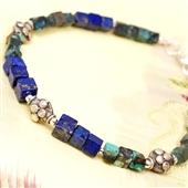 Męska bransoletka lapis lazuli i turkus