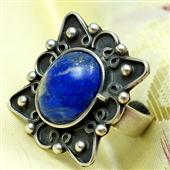 Duży pierścionek z lapis lazuli