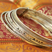 Srebrne orientalne bransoletki koła
