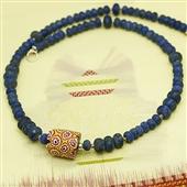Męski naszyjnik: Szkło weneckie i lapis lazuli