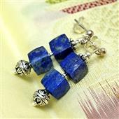 Etniczne kolczyki z lapis lazuli