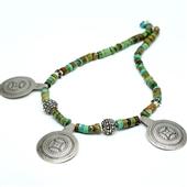 Berberyjskie amulety w turkusach