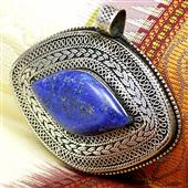Duży wisior z lapis lazuli z Afganistanu