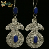 Duże kolczyki z lapis lazuli
