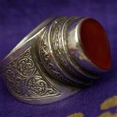 Srebrny pierścień z karneolem