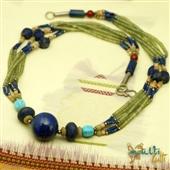 Naszyjnik afgański z lapis lazuli