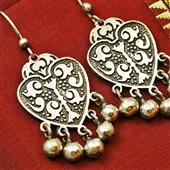 Kolczyki serca ze srebra