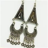 Duże srebrne kolczyki orientalne