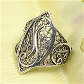 Srebrny pierścionek - filigran