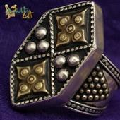 Duży srebrny pierścień Turkmen