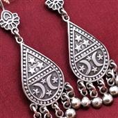 Duże srebrne kolczyki z Nubii