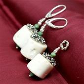 Komplet biżuterii z białego korala