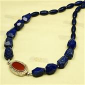 Lapis lazuli i srebro z Turkmenistanu