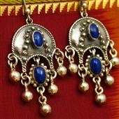 Orientalne kolczyki z lapis lazuli