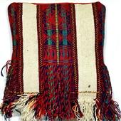 Kilim: Beduińska poduszka z frędzlami II