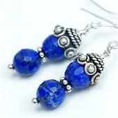 Delikatne kolczyki z lapis lazuli