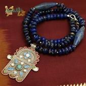 Ręka Fatimy: naszyjnik z lapis lazuli