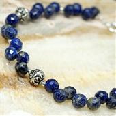 Etniczna bransoletka z lapis lazuli