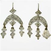 Stare srebrne kolczyki Berber