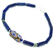 Szkło Murano i lapis lazuli. Męska bransoletka