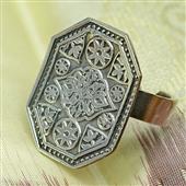 Srebrny pierścionek boho Siwa