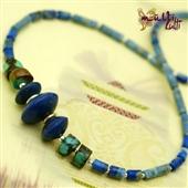 Naszyjnik męski etno z lapis lazuli