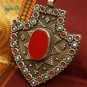 Srebrny wisior plemienny Asyk z Kazachstanu