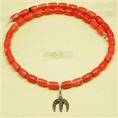 Naszyjnik korale z amuletem