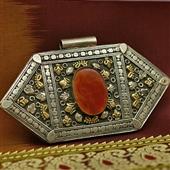 Duży wisior z karneolem: Turkmen