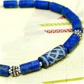 Męska bransoletka. Lapis lazuli z Afganistanu