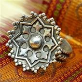 Srebrny pierścionek - gwiazda