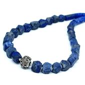 Lapis lazuli: Męski naszyjnik etno