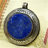 Duży wisior afgański z lapis lazuli