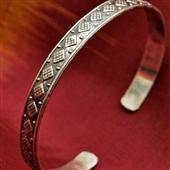 Srebrna bransoletka etno bangla