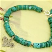 Sahrawi: bransoletka z turkusu z amuletem