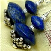 Lapis lazuli: etno kolczyki