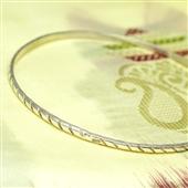Delikatna srebrna bransoletka koło