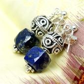 Kolczyki z lapis lazuli i srebra