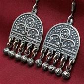 Etniczne kolczyki ze srebra