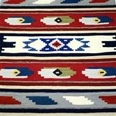 Beduin wełniany kilim/dywan I