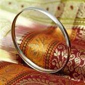 Minimalistyczna srebrna bransoletka koło