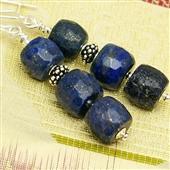 Etno boho: kolczyki z lapis lazuli
