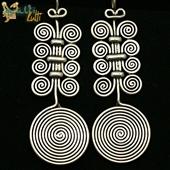 Berber: duże kolczyki spirale