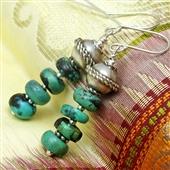 Kolczyki z turkusami w srebrze