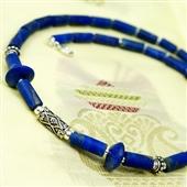 Męski naszyjnik z lapis lazuli i srebra