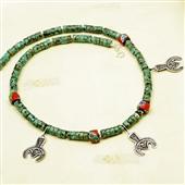 Męski naszyjnik etno; beduińskie amulety