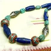 Naszyjnik nepalski z lapis lazuli