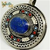 Duży wisior z lapis lazuli z Kazachstanu