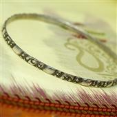 Berber: stara srebrna bransoletka koło