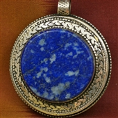 Afganistan: duży medalion z lapis lazuli